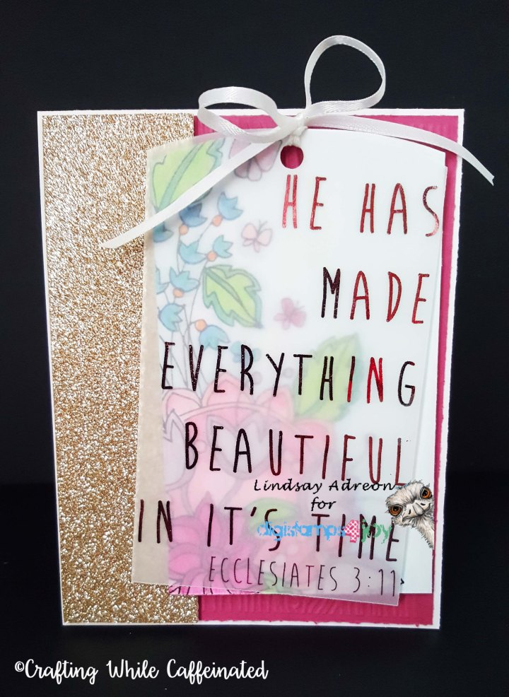 Adding Tags to Your Cards — DigiStamps4Joy Challenge121