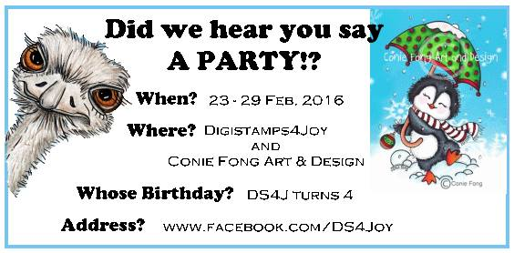Digistamps4Joy 4th BirthdayParty