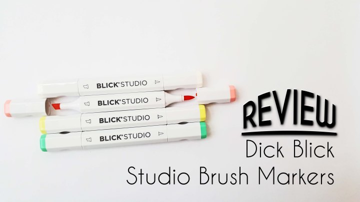Dick Blick Studio Brush Markers Review