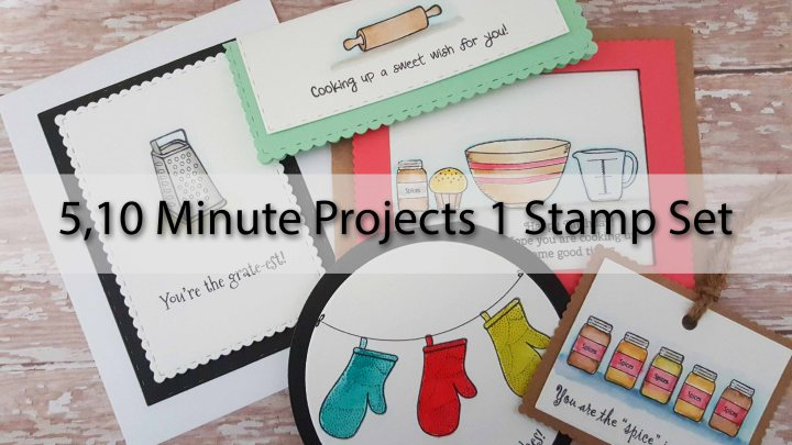 5 10 Minute Cards with 1 StampSet