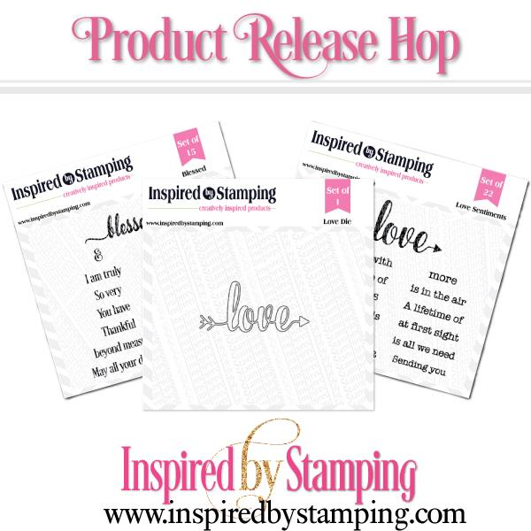 Inspired by Stamp New Release Blog Hop – Love Sentiments Stamp &Die