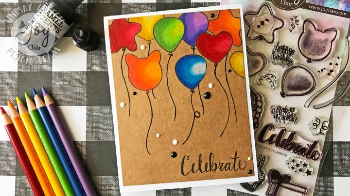 Colored Pencils on Kraft with Joy ClairStamps