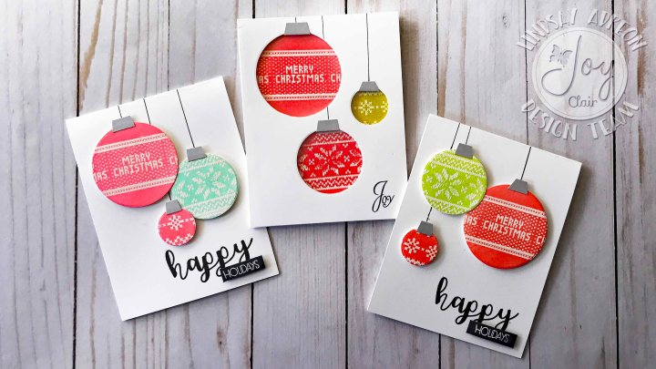 Two Holiday Cards with Joy ClairStamps