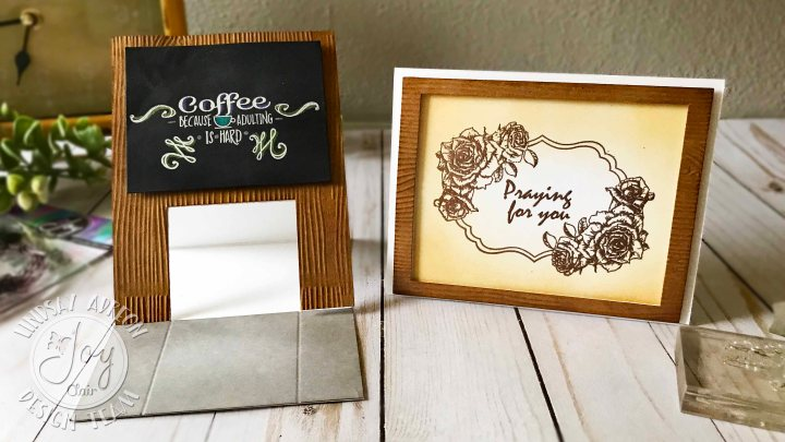 Dry Embossing & an Easel Card with Joy Clair Stamps