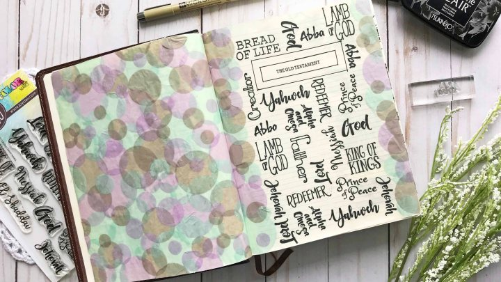 Bible Journaling & A Bokeh Effect with Joy ClairStamps