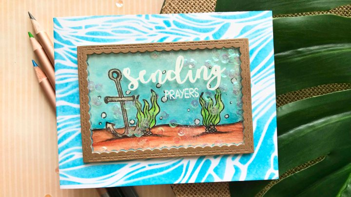 A Shaker Card + Joy Clair Stamps July Challenge
