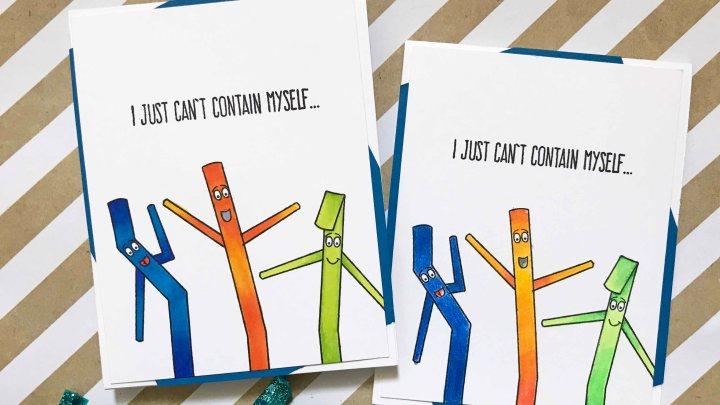 One Card Design – Two ColoringMediums