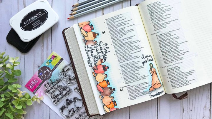 Bible Journaling with Colored Pencils & OMS Ft. Joy Clair Stamps & LeisureArts
