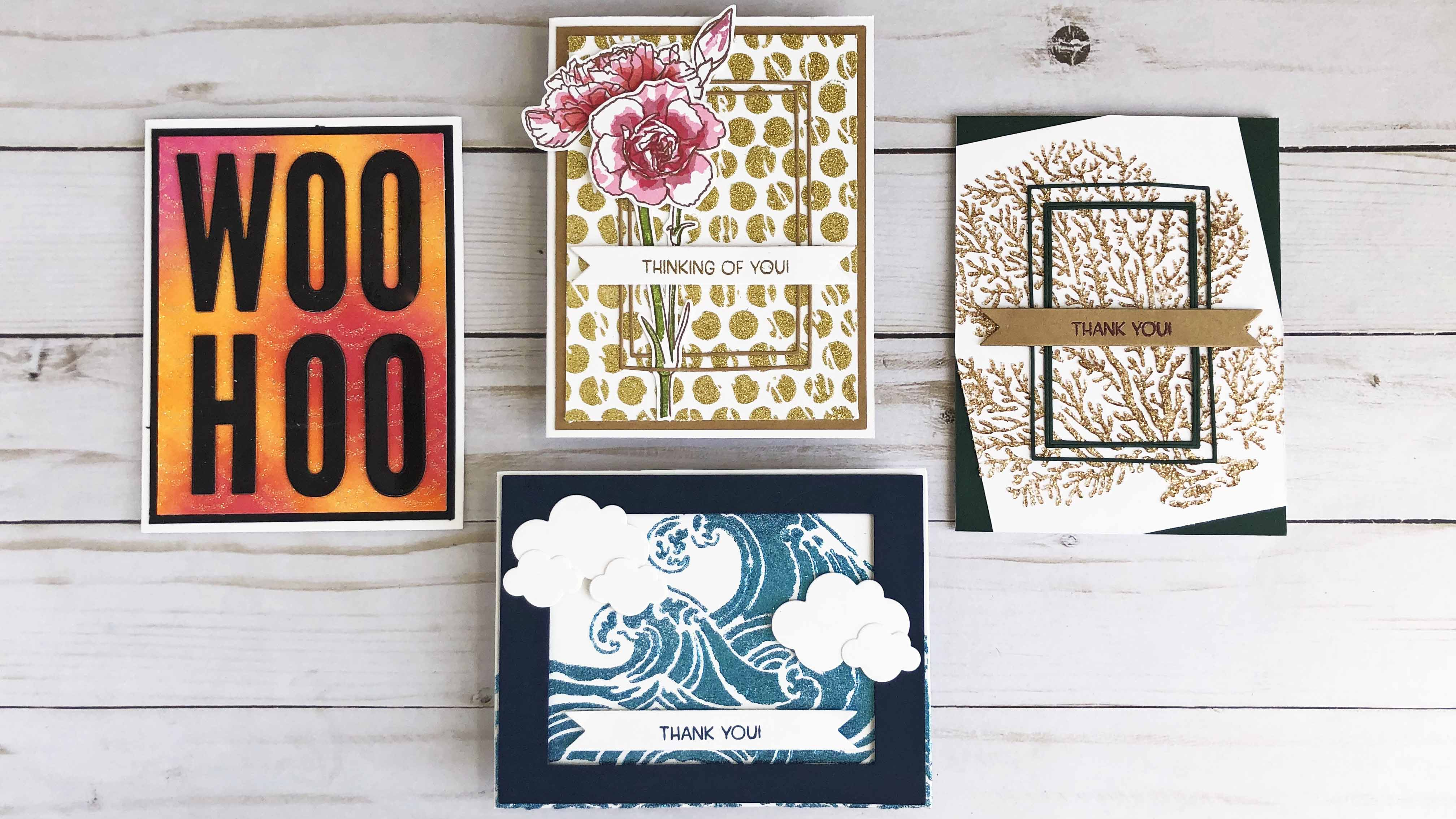Four different ways to add glitter to your stenciling!