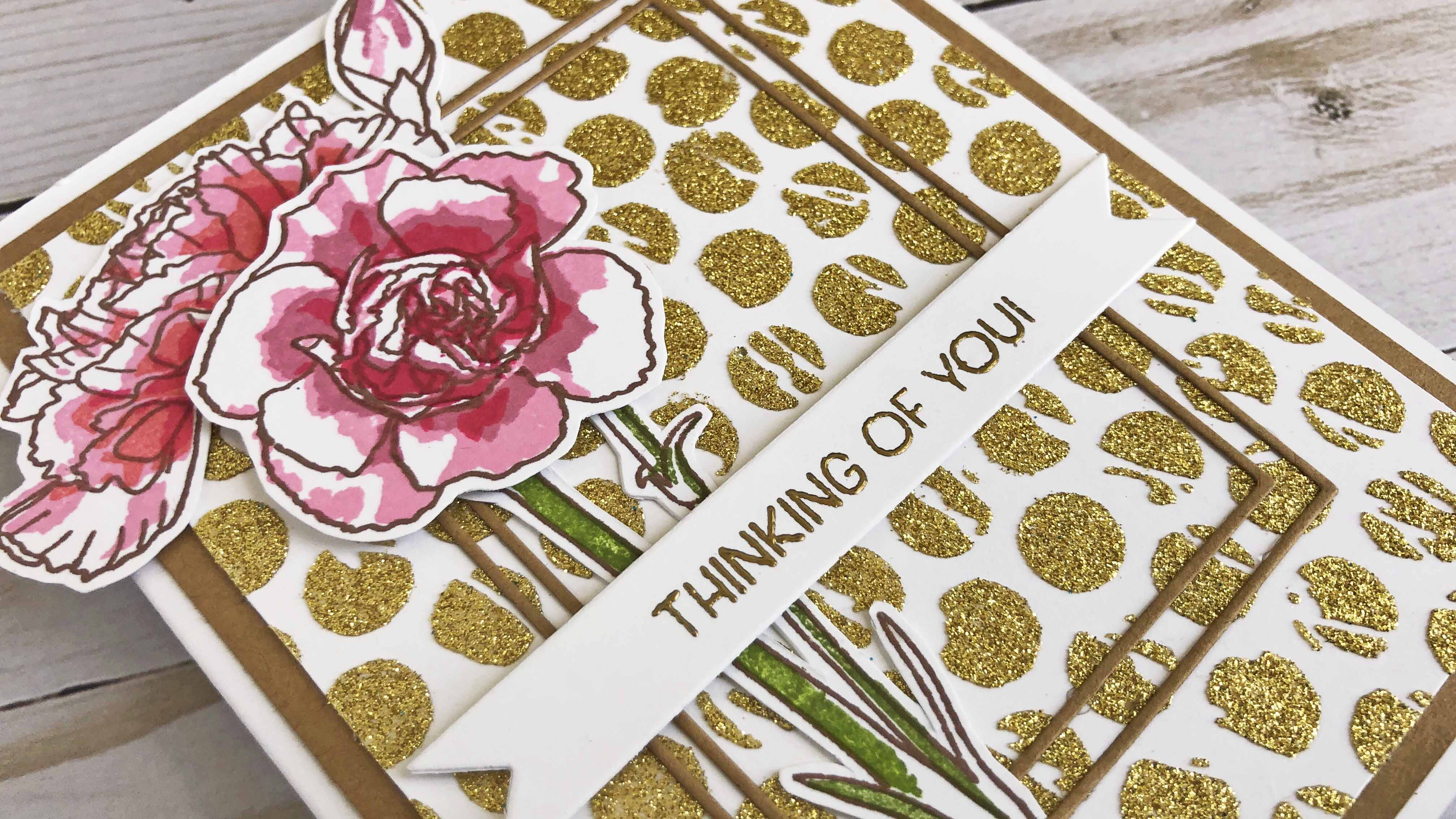 Hot Foil Gel with Heidi Swapp Glitter Transfer Sheets (Gold). A velvety finish!!
