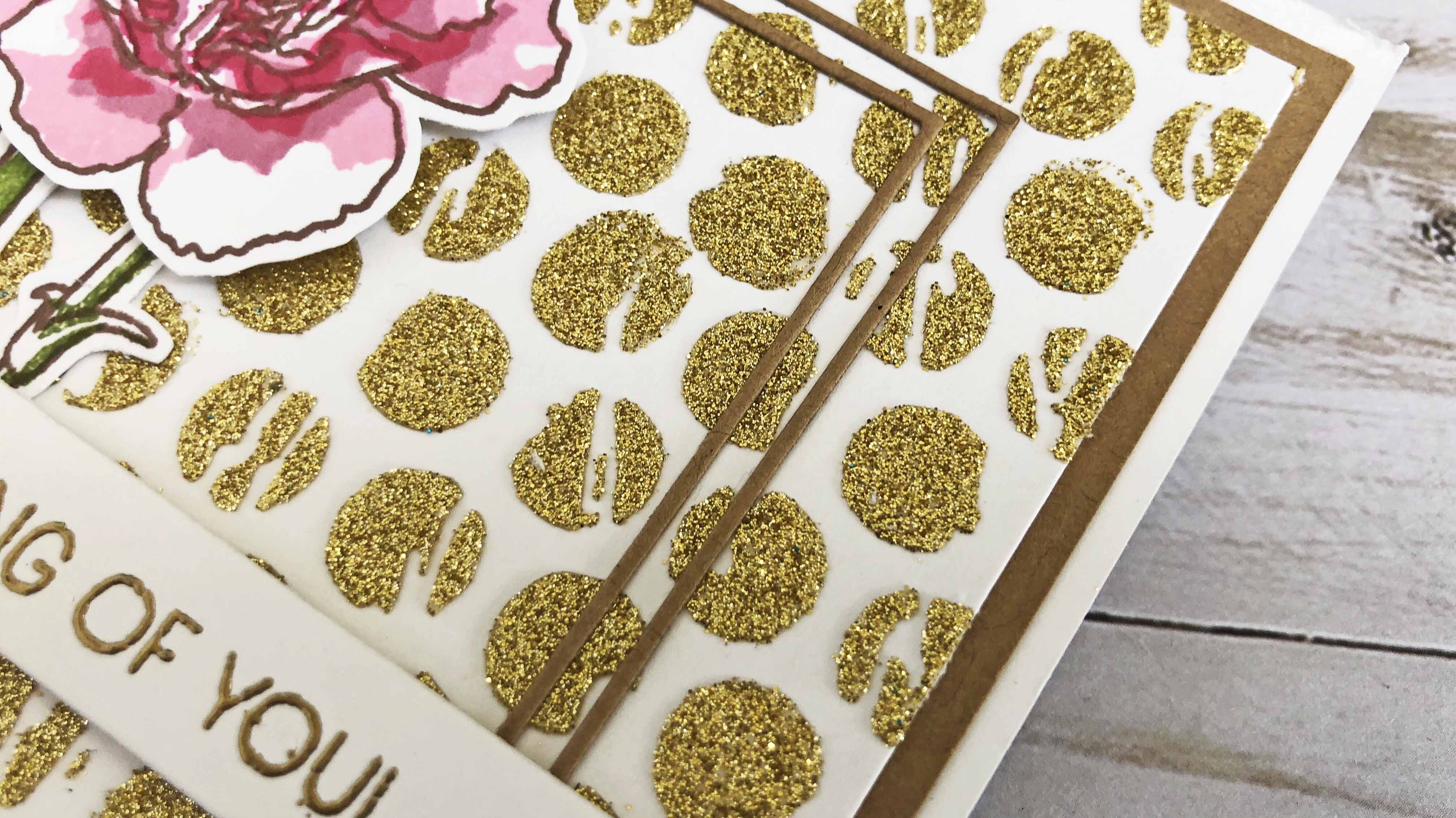Close Up - Hot Foil Gel with Heidi Swapp Glitter Sheets in Gold.