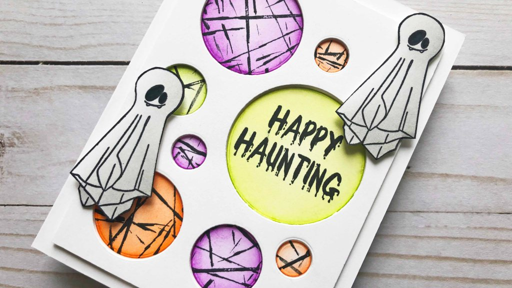 Halloween Card with Rubber Band Technique