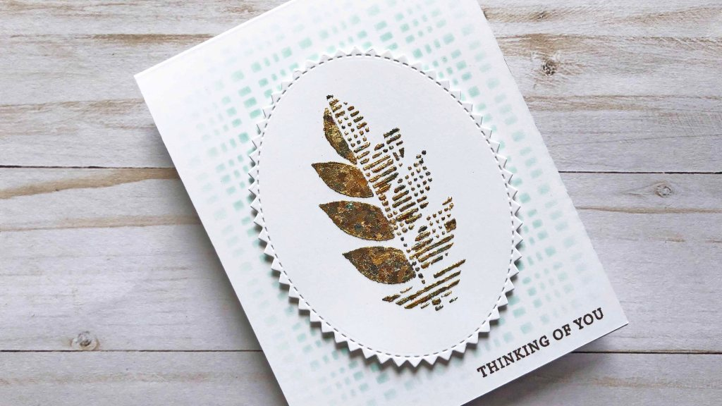Leaf Collection Stencils with Gilding Flakes