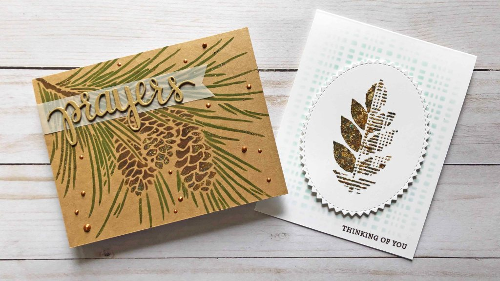 Gilding Flakes with Stencils