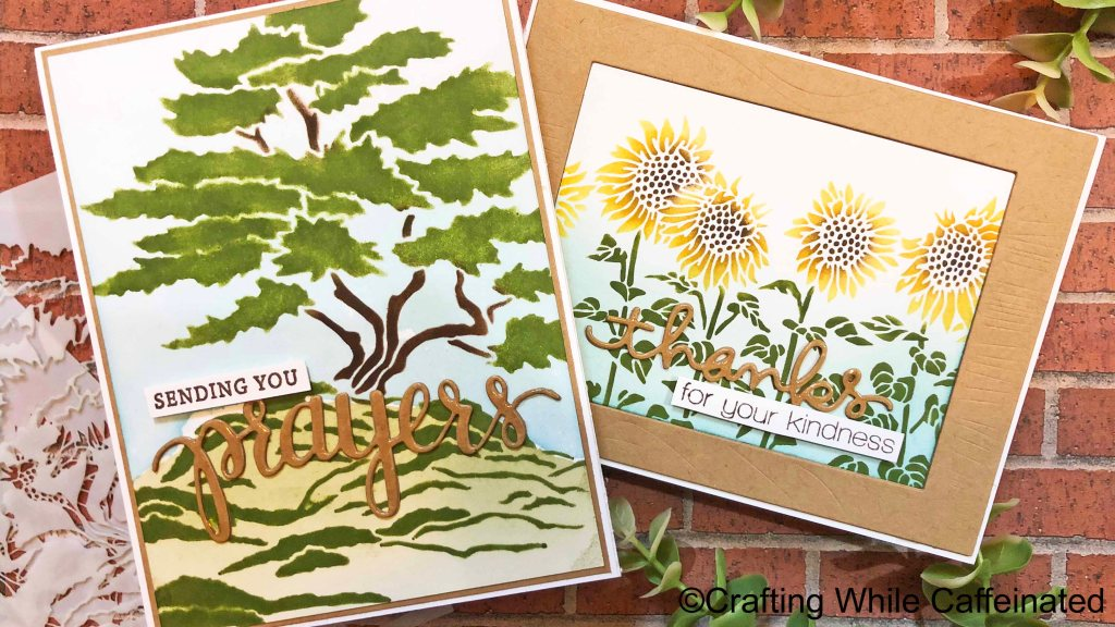 Creating scenes with stencils is easy and quick!