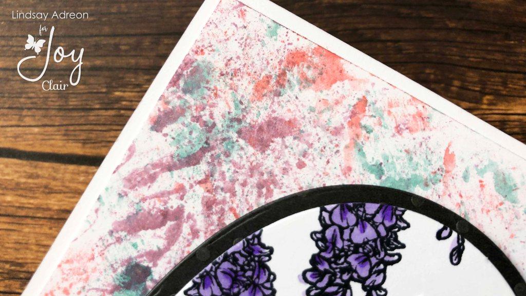 Smooshed background using dye ink pads