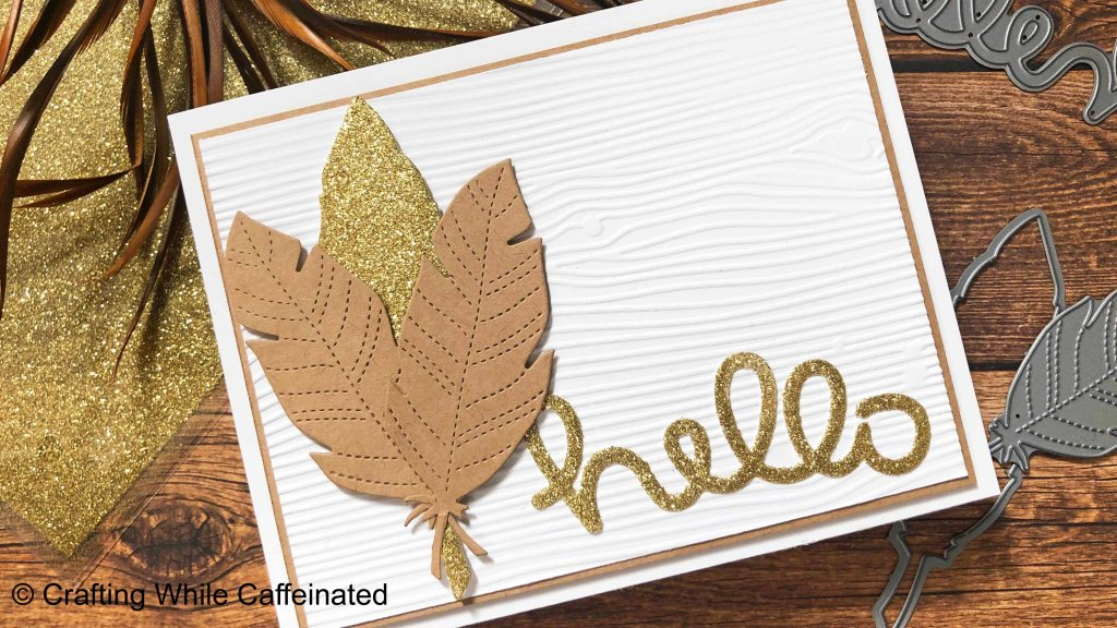 Heidi Swapp Gold Minc Glitter Sheets with double sided adhesive and die cuts.