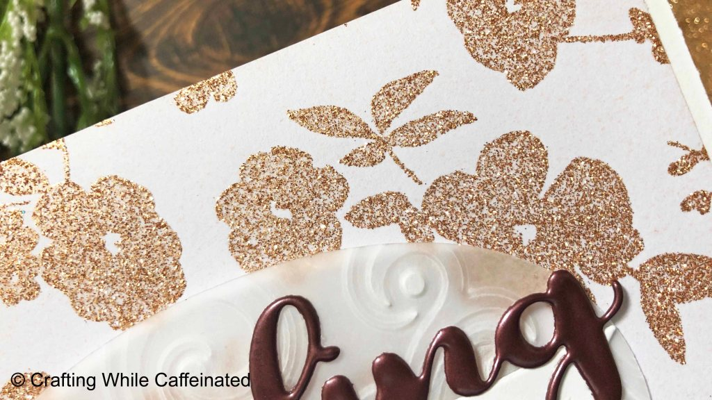 Heidi Swapp Minc Glitter Sheets in Rose Gold used withe the Minc Reactive Paper