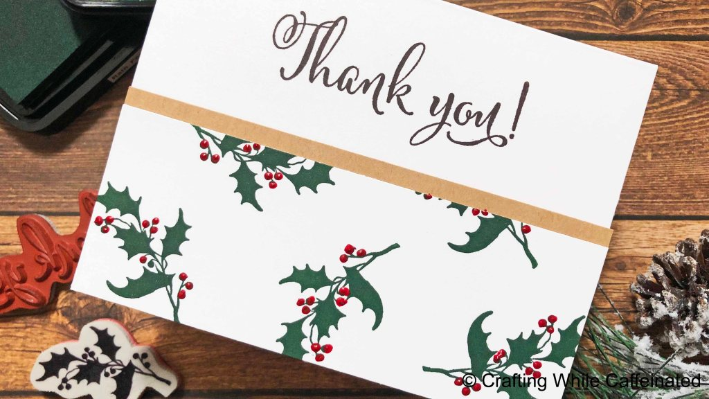 Creating multiple cards or card sets doesn't need to be hard or time consuming! This Christmas Thank You Card is quick and simple!