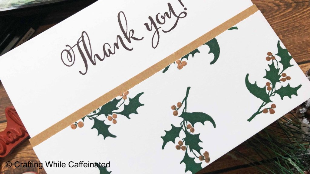 Making card sets tips and tricks. These Christmas Thank You cards are quick and simple and can be made in minutes!