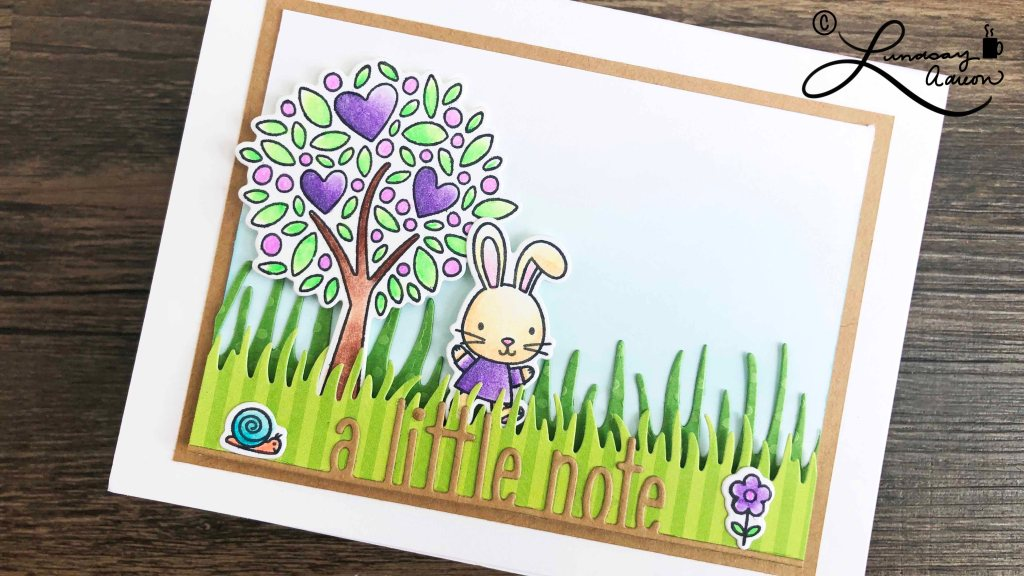 Stamped images from My Favorite Things Wonderful Woodland Friends stamp set colored with oil based colored pencils and OMS