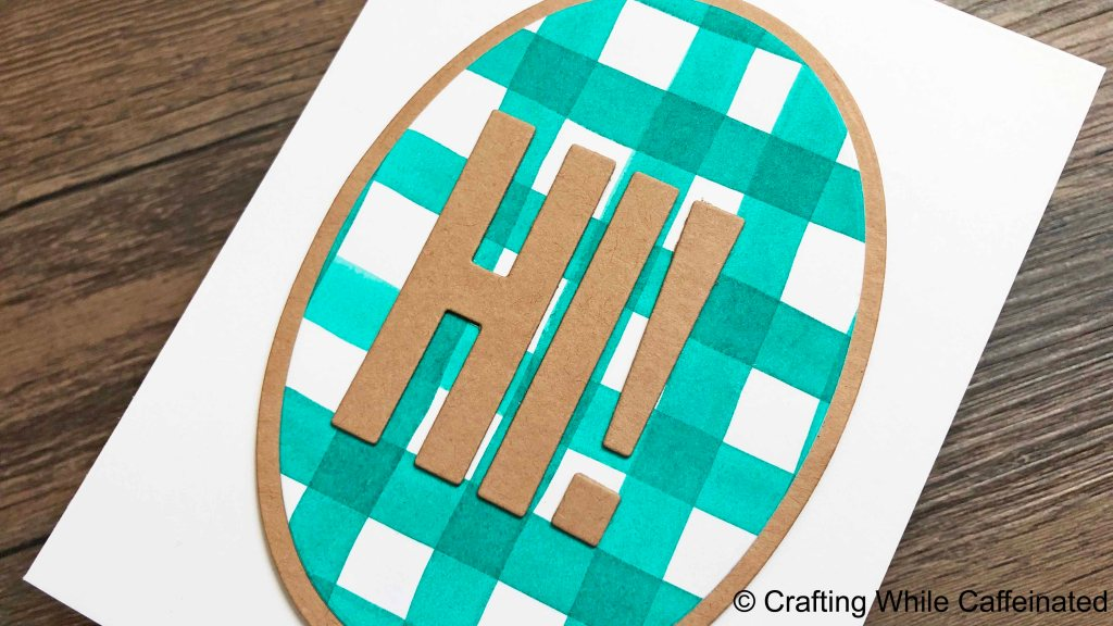 Dr. Ph Martin's Hydrus Watercolors make a very solid line that doesn't budge on this DIY gingham background!