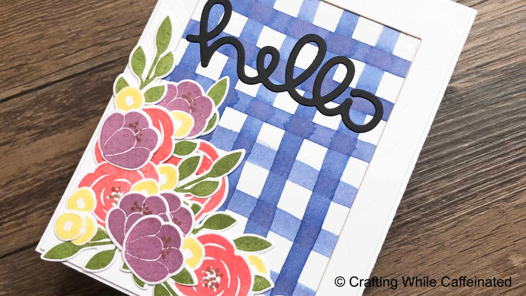 DIY Gingham Background with Distress Inks! Faded Jeans is a gorgeous color to use for a country look!
