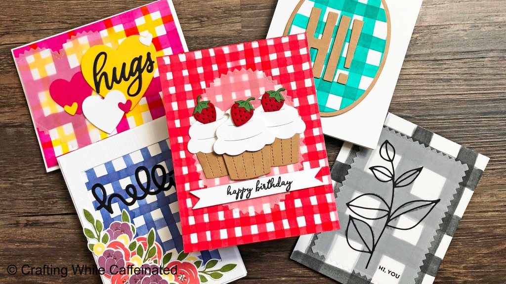 Easy DIY Gingham backgrounds made with watercolor!