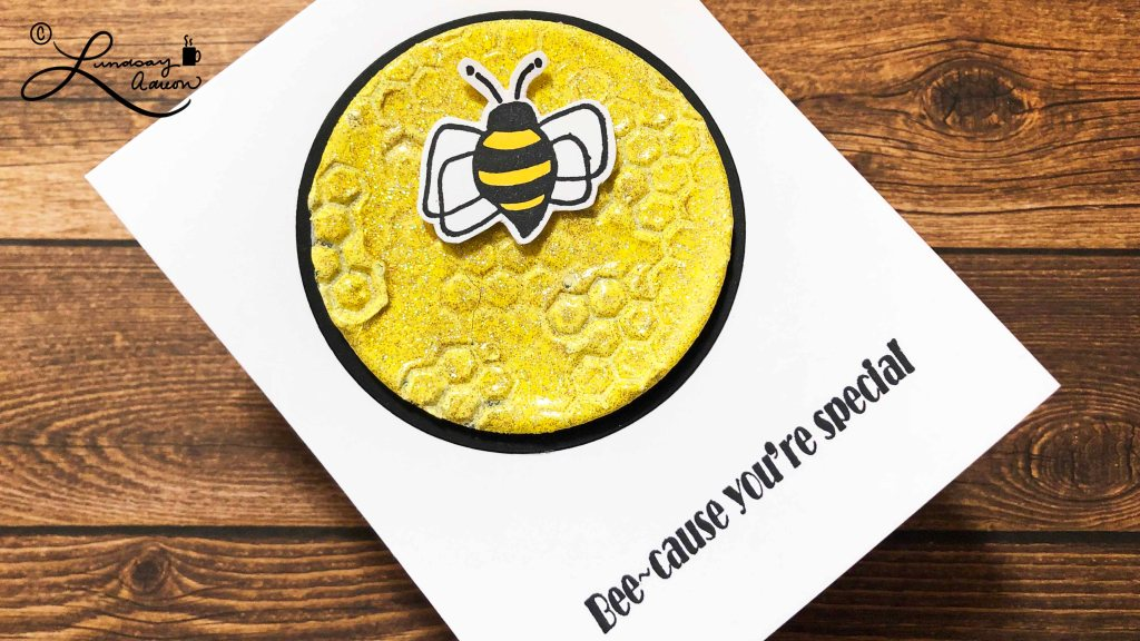 Bee-Cause You're Special Handmade Card