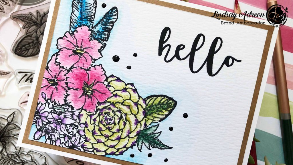 I used the Martha's Flowers stamp set from Joy Clair stamps as my image to color. I love using images without large openings with a lot of white space!
