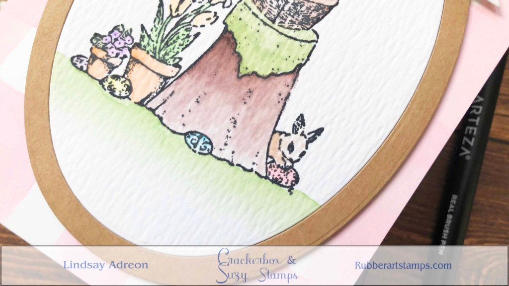 Adding the frame to the watercolor scene helps give it that final storybook feel! It also helps highlight the scene on this handmade card.