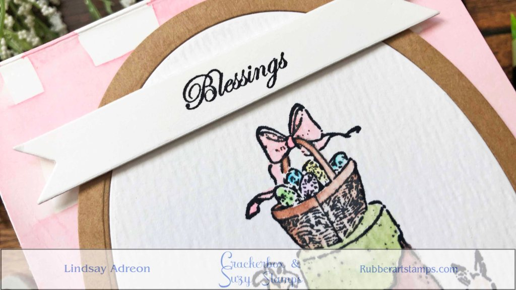 A simple sentiment is perfect for the finishing touch on this handmade Easter card.