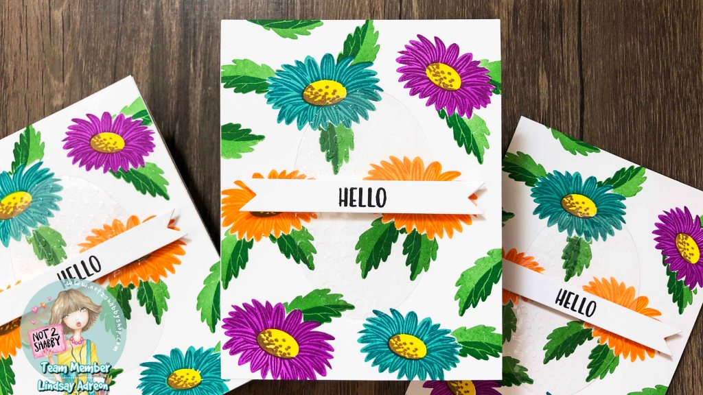 Creating a handmade card set with the Cheerful Daisies Stamp Set from Sunny Studios