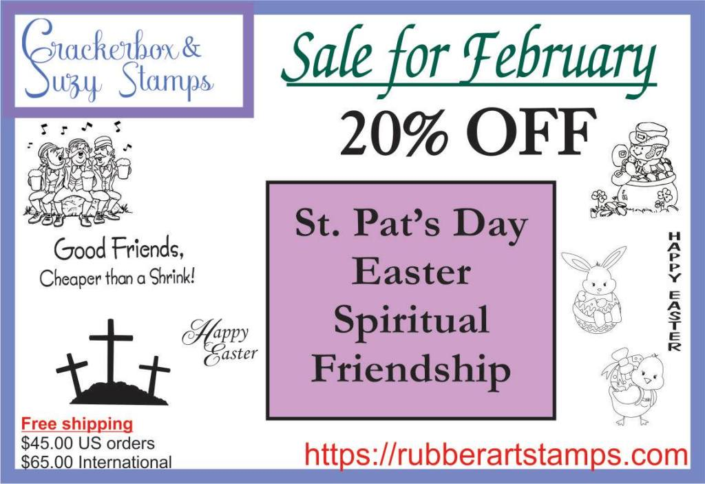 Crackerbox & Suzy Stamps February Sale