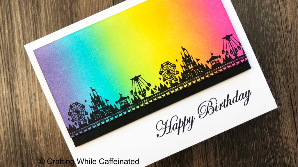 Adding a happy birthday sentiment was the finishing touch for this handmade greeting card!