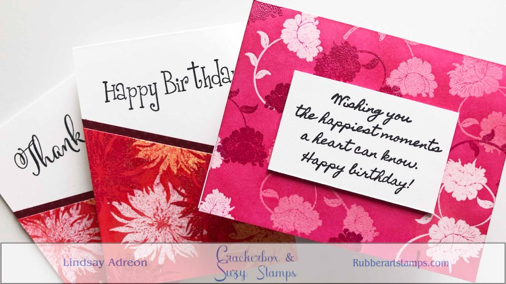 Ink Trapping is a great technique for beginners! You are combining heat embossing, stamping and ink blending. All are beginner friendly techniques that you combine to create fun backgrounds!