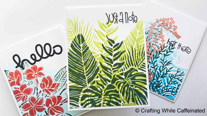 3 Different Handmade Cards with 1 Design