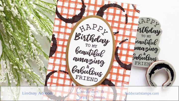 A Simple Birthday Card with Crackerbox & Suzy Stamps