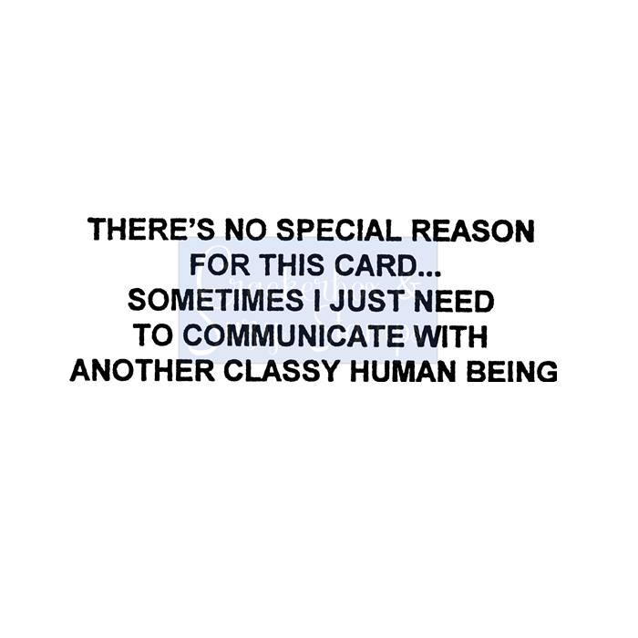 No Special Reason Stamp