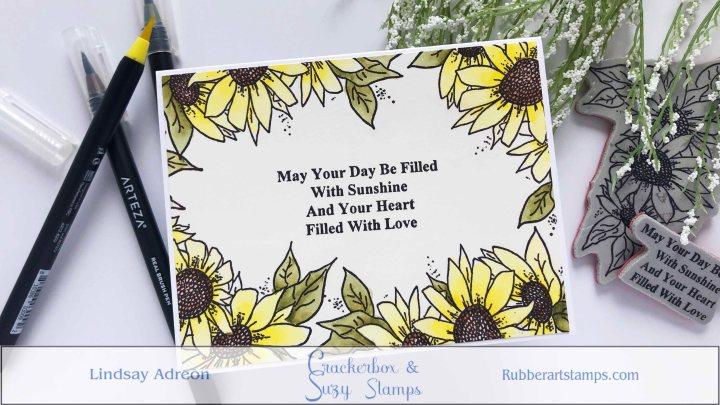 Floral Frame with One Stamp & NOMasking
