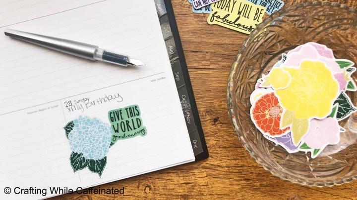 FREE Printable Flower StickerSheet