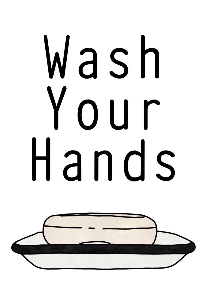 Wash Your Hands Home Decor FREE Printable Sign