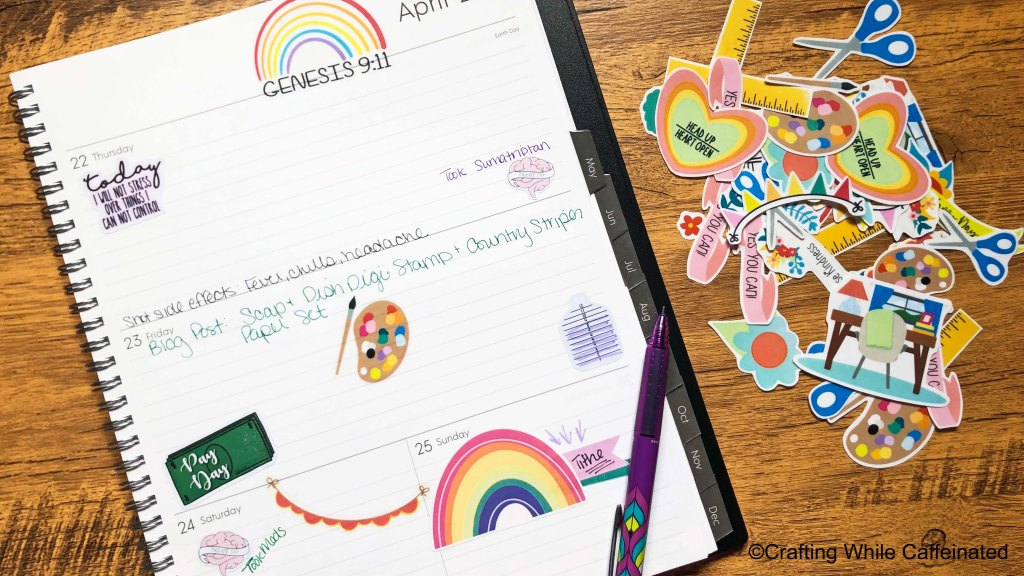free printable sticker sheet used in my daily planner