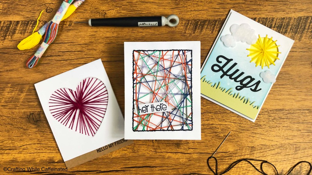 Try String Art on your handmade cards!